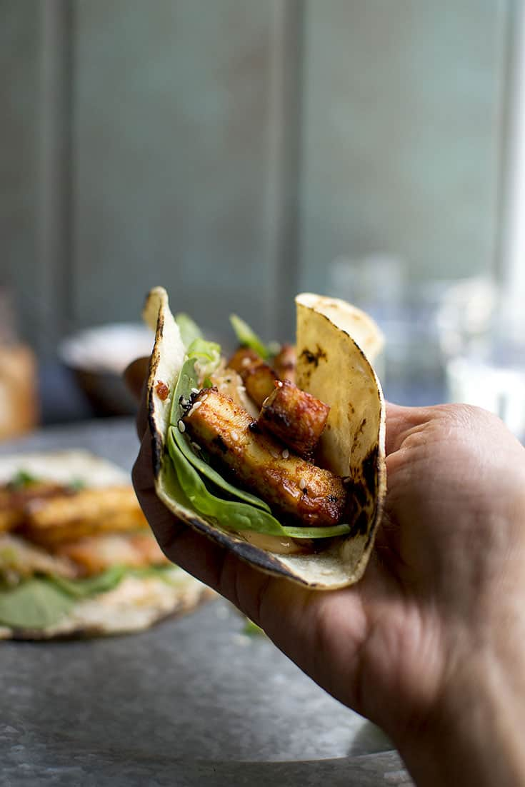 Vegan Korean Tacos