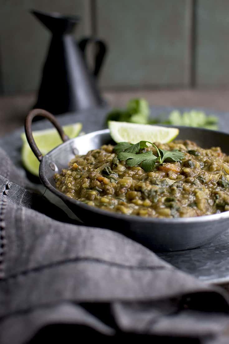 Spinach Mung beans