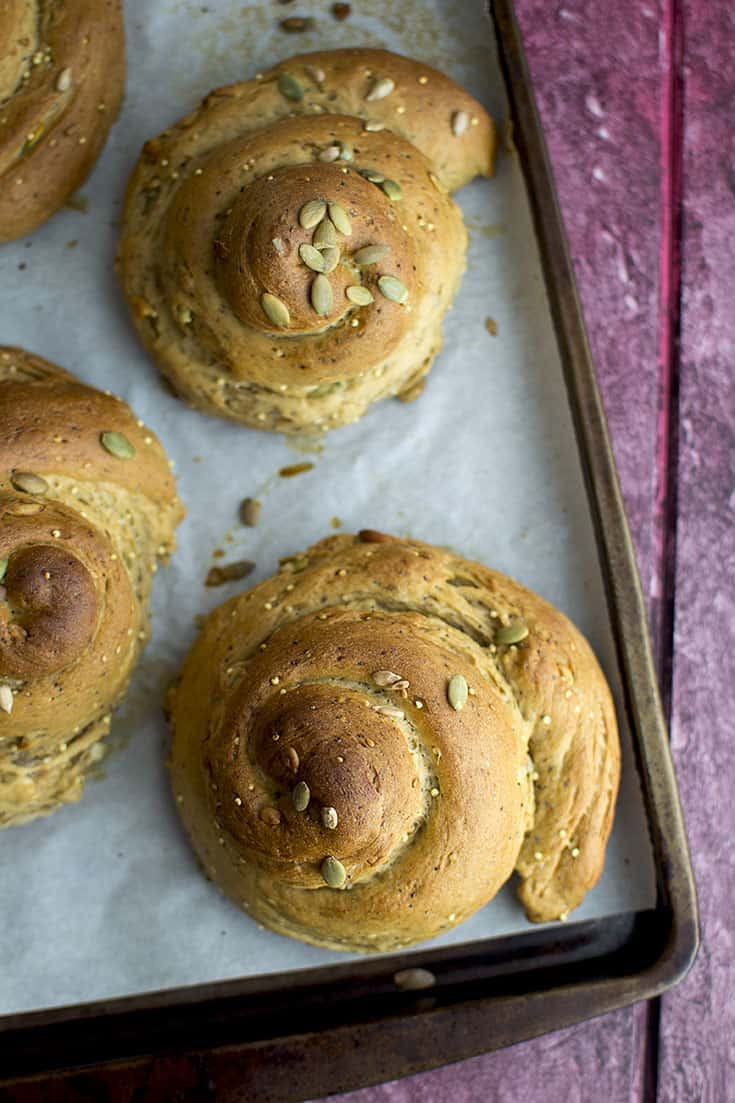 Challah bread with Seeds