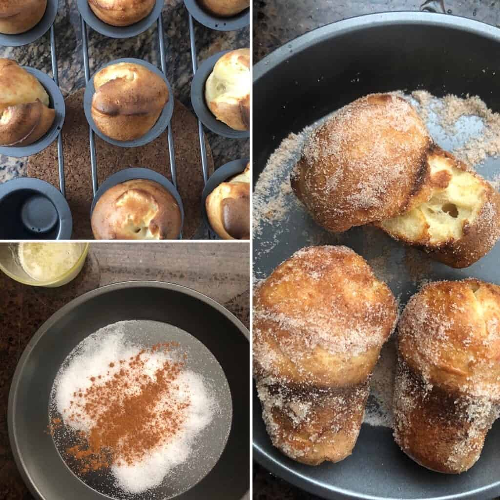 Batter poured into hot mold and baked until golden