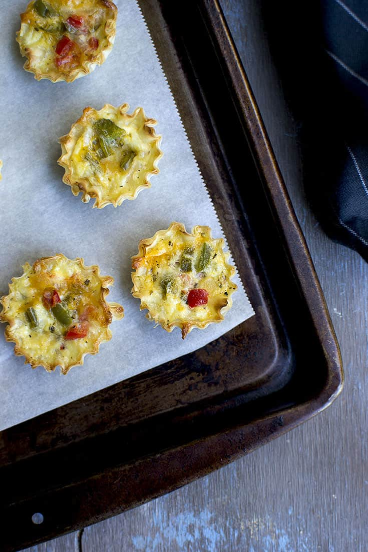Mini Quiche with vegetables
