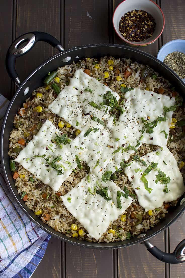 Cheesy Fried Rice