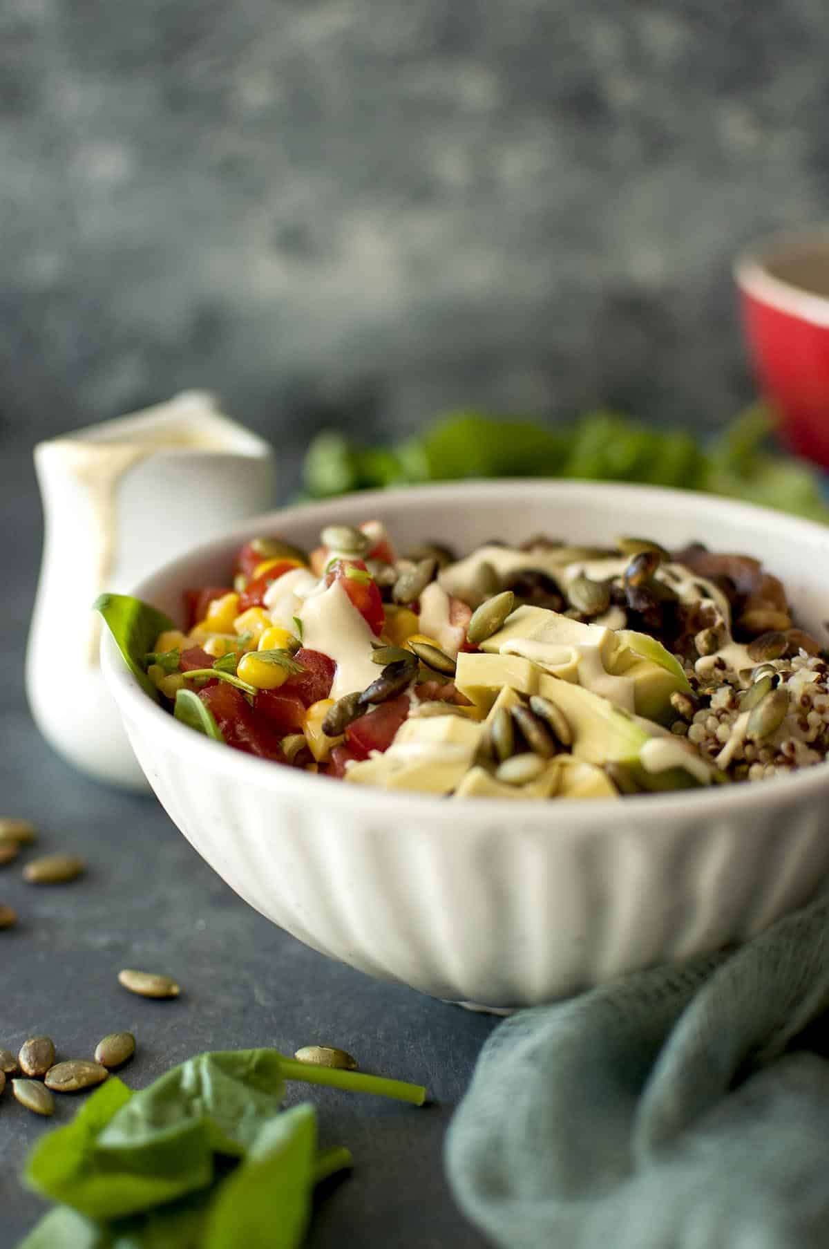 Vegan Grain Bowl with Cashew Queso