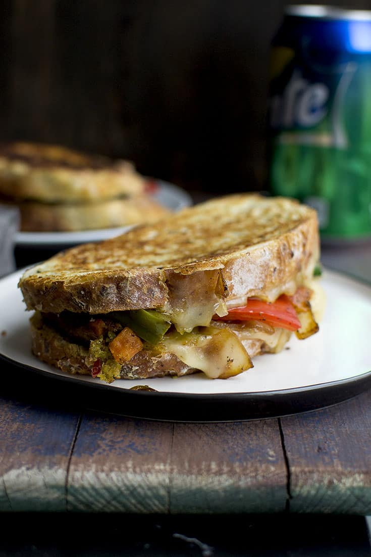 Grilled Cheese with Veggies