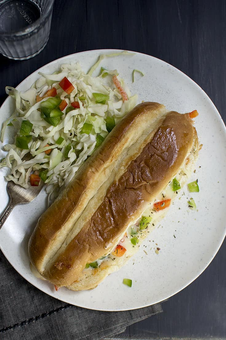 Pizza flavored Cheese Sandwich