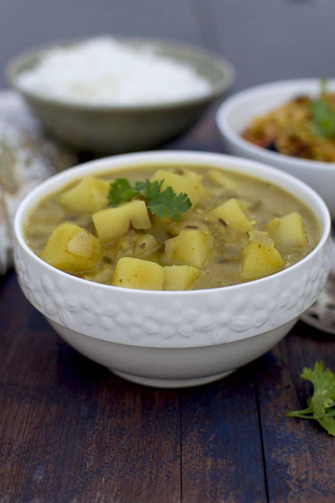 Bowl of Aloo Masoor Dal