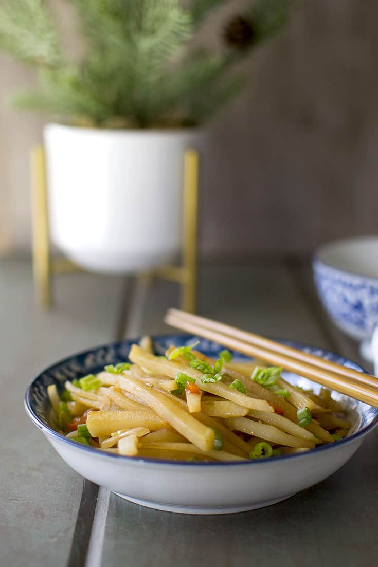 Chinese potato stir fry with peppers