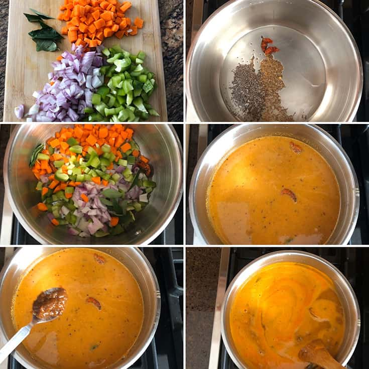 Step by step instructions to make sambar