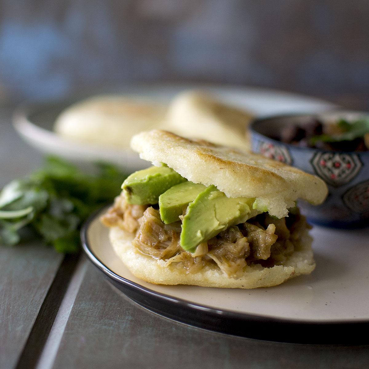 Vegan Venezuelan Arepas Recipe Jackfruit Filling Cook S Hideout